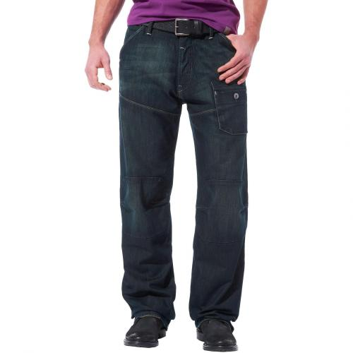G-Star Herren Jeans Steel 5620 Loose Raw Damaged