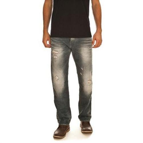 G-Star - Hüftjeans Attacc Straight Vintage Destroyed Blaue Waschung