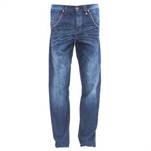 Gabba - Relaxed Fit Gaucho W800 Blaue Waschung