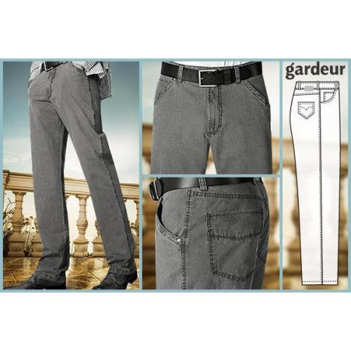 gardeur Leinen Look Stretch grau GJ12/71502/84