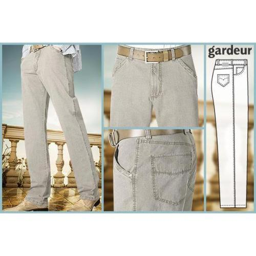 gardeur Leinen Look Stretch silber GJ12/71502/81