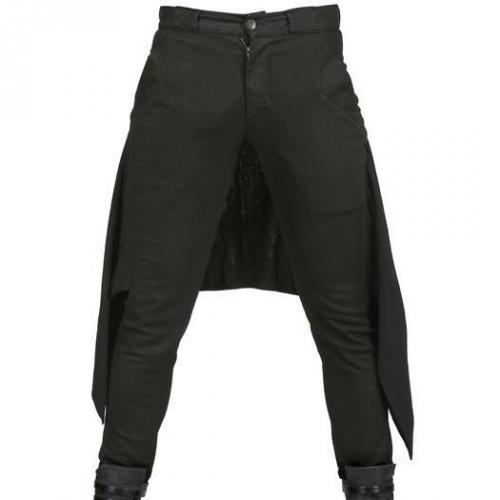 Gareth Pugh - 17.5Cm Woll Crepe & Stretch Denim Jeans