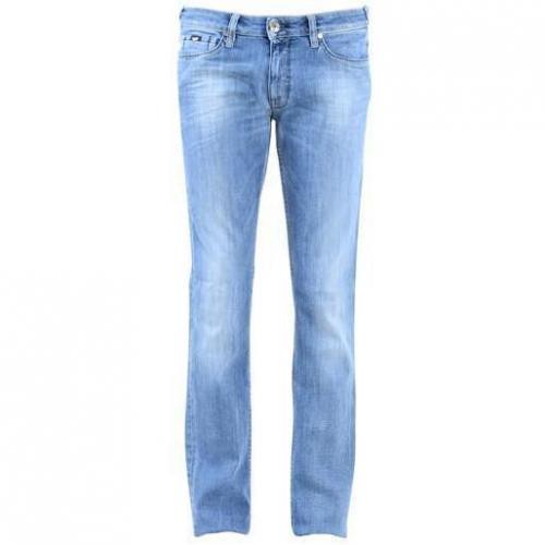 Gas - Hüftjeans Morris N. Denim Straight 179 Blaue Waschung