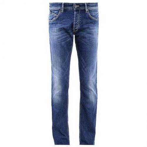 Gas - Slim Warris J. Denim Straight Blau