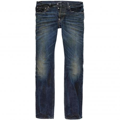 Gilded Age Herren Jeans Baxten Traditional Slim Fit Dark Aged Wash