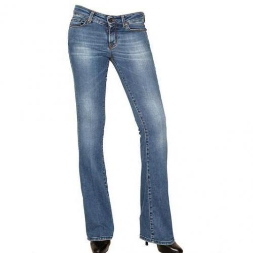 Good Mood - Stretch Washed Denim Boot Cut Jeans