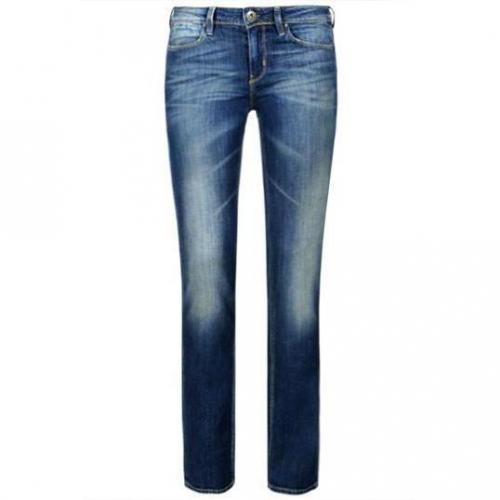 Guess - Hüftjeans Modell Nicole Cigarette New Jacynthe Farbe Blaue Waschung
