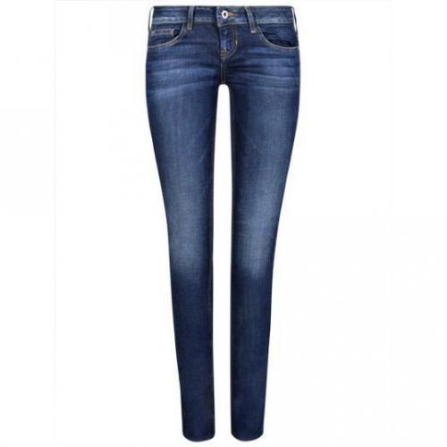 Guess - Skinny Modell Foxy skinny Mystery Wash Farbe Blaue Waschung