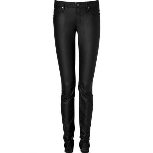 Helmut Lang Black Neoprene Denim Skinny Jeans