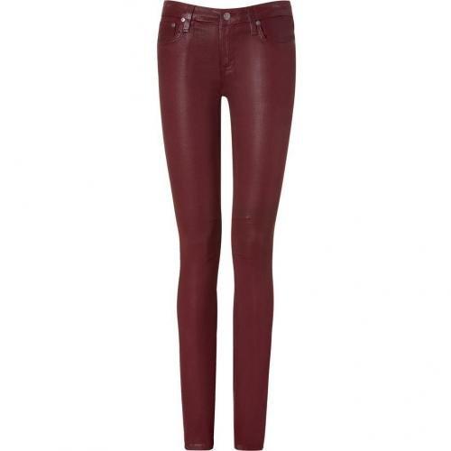 Helmut Lang Carmine Coated Skinny Jeans