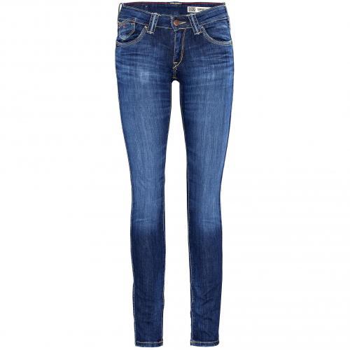Hilfiger Denim Damen Jeans Sophie Skinny Mid Blue Washed