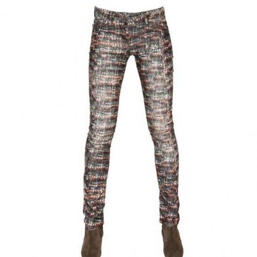 Isabel Marant Ètoile - Bedruckte Baumwoll Corduroy Jeans