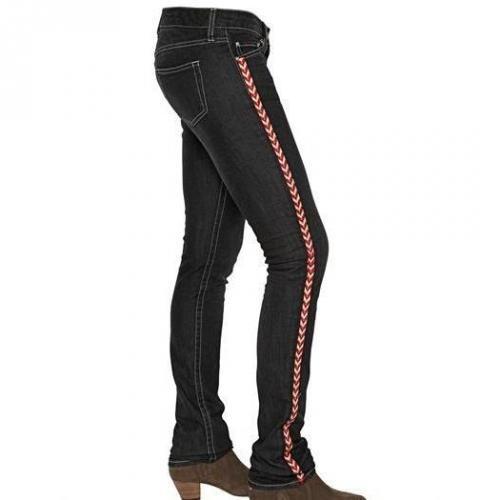 Isabel Marant Ètoile - Bestickte Stretch Baumwoll Denim Jeans
