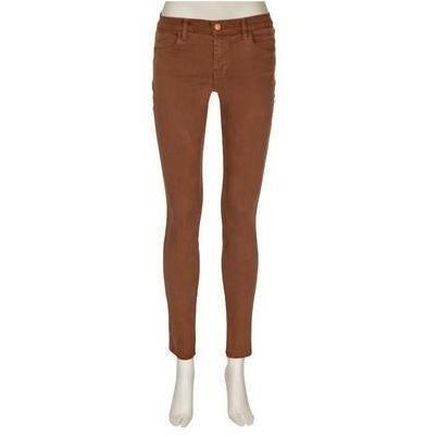 J Brand 620 Mid-Rise Super-Skinny-Jeans Cognac