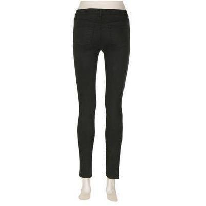 J Brand 620 Mid-Rise Super-Skinny-Jeans Conifer Grün