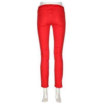 J Brand 910 Low-Rise Skinny-Leg-Jeans Rot