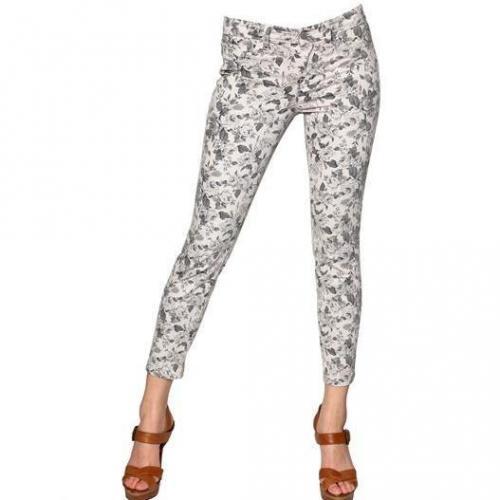 J Brand - Blumen Bedruckte Japanese Twill Capri Jeans