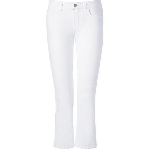 J Brand Jeans Aspen Mid-Rise Cropped Flare Jeans Gigi