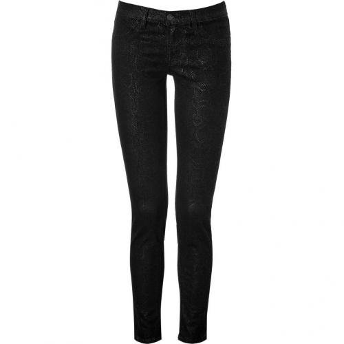 J Brand Jeans Black Animal Print Skinny Pants