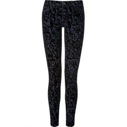 J Brand Jeans Black Brocade Flocking Jeans
