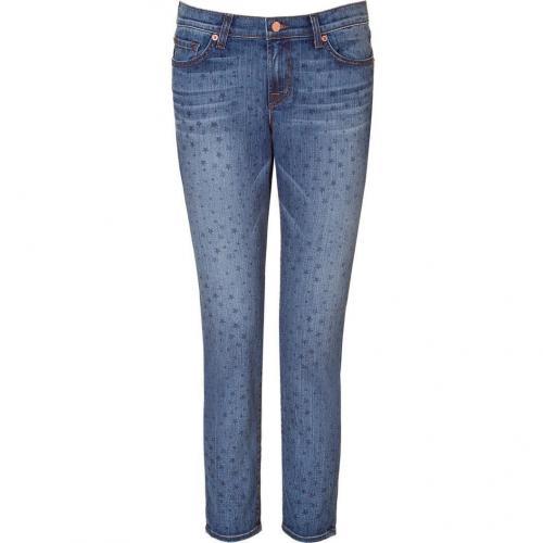 J Brand Jeans Blue Capri with Star Print