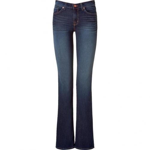 J Brand Jeans Blue Mid Rise Slimboot Leg Jeans