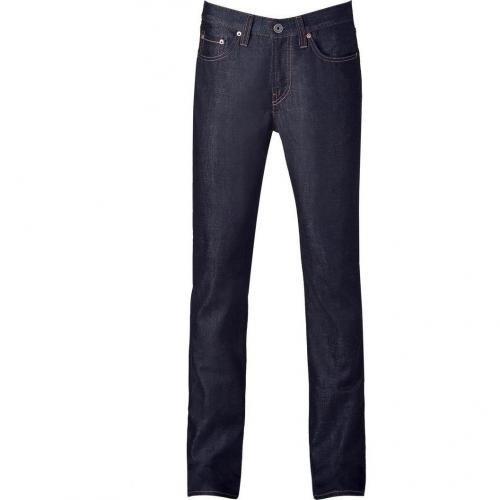 J Brand Jeans Dark Blue JB Kane Slim Straight Raw Denim Pant