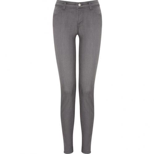 J Brand Jeans Grey Super Skinny Mid-Rise Gotham Jeans
