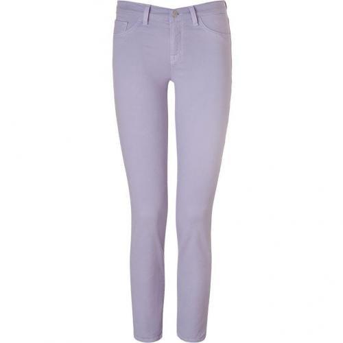 J Brand Jeans Heliotrope Mid Rise Skinny Pants