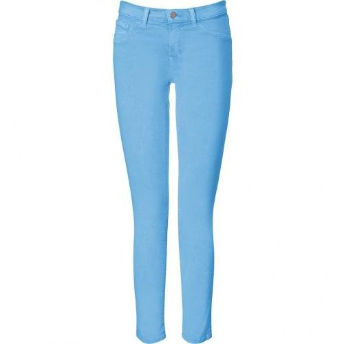 J Brand Jeans Neon Blue Mid Rise Skinny Leg Pants