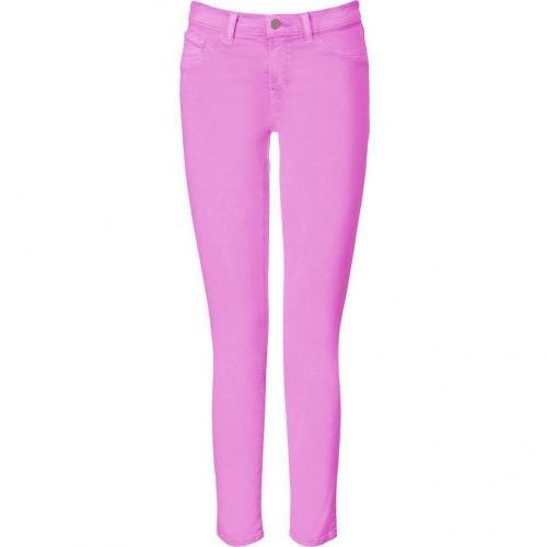 J Brand Jeans Neon Purple Mid Rise Skinny Leg Pants