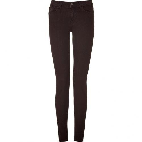 J Brand Jeans Noirbrown Mid Rise Skinny Leg Jeans