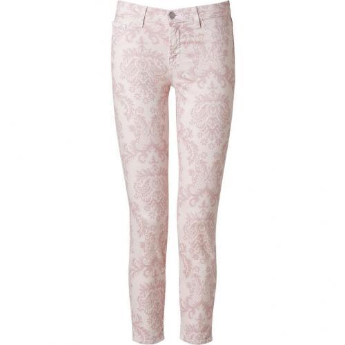 J Brand Jeans Romantic Mid-Rise Capri with Floral Print