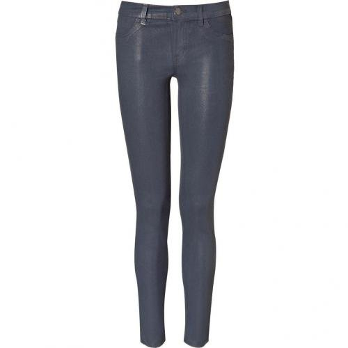J Brand Jeans Steelblue Low Rise Skinny Coated Patriot Jeans