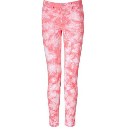 J Brand Jeans Twisted Coral Mid-Rise Skinny Pants