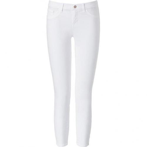 J Brand Jeans White Mid Rise Skinny Leg Capri