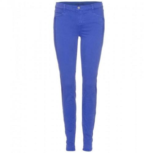 J Brand Kinsey Mid-Rise Pieced Skinny Jeans