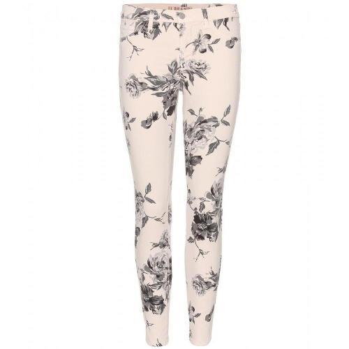 J Brand Mid Rise Capri Jeans Mit Floralem Print Empress