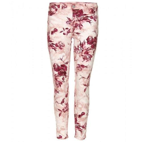 J Brand Mid Rise Capri Jeans Mit Floralem Print