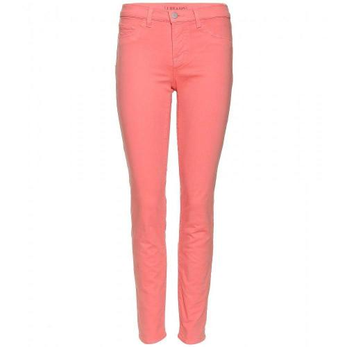 J Brand Mid Rise Skinny Jeans Coral