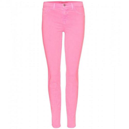 J Brand Mid Rise Skinny Jeans Neon Pink