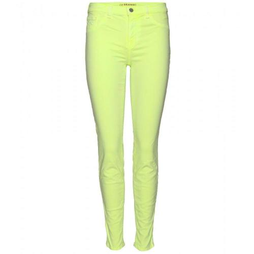 J Brand Mid Rise Skinny Jeans Neon Yellow