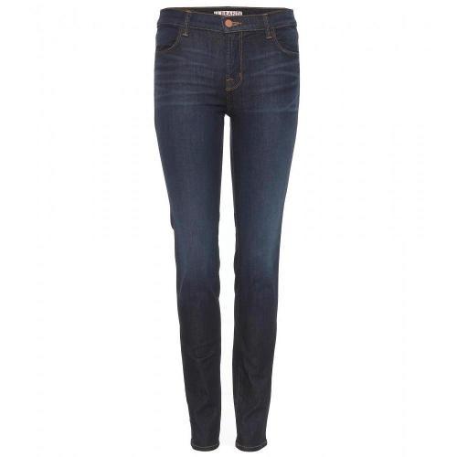 J Brand Mid-Rise Super Skinny Stretch Jeans Mazzaro
