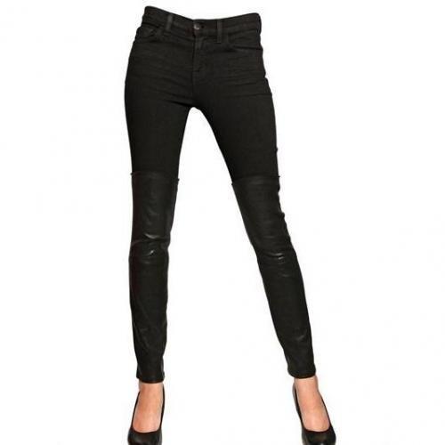 J Brand - Minx Mid Rise Nappa & Denim Jeans