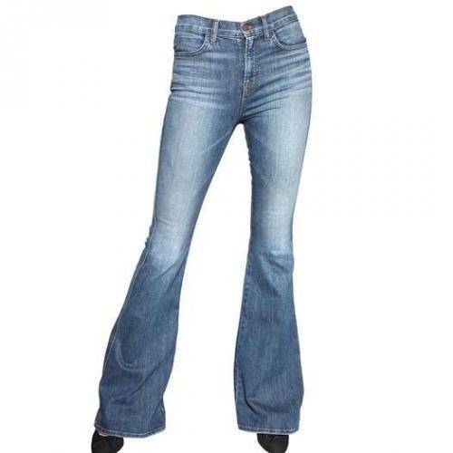 J Brand - Stretch Denim Flare High Rise Jeans