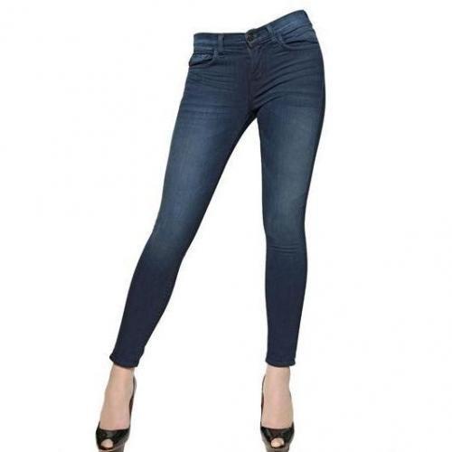 J Brand - Stretch Denim Skinny Mid Rise Jeans