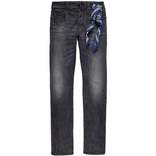 Jacob Cohën Herren Jeans Grey Washed