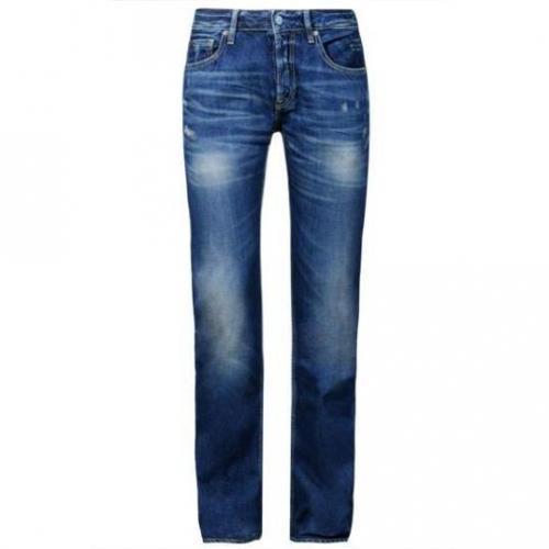 Japan Rags - Hüftjeans 611 Basic Bleu 315 Blaue Waschung