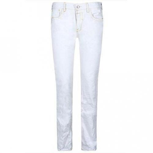 Japan Rags - Hüftjeans 611 Inoki Blanc Z18 Weiß