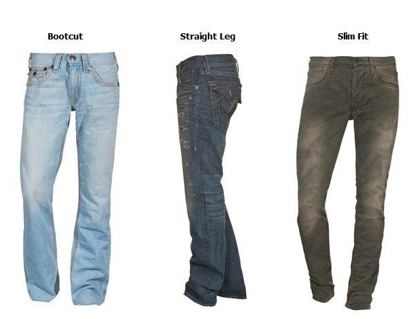 Jeans Typen: Bootcut Jeans, Straight Leg Jeans und Slim Fit Jeans erklärt